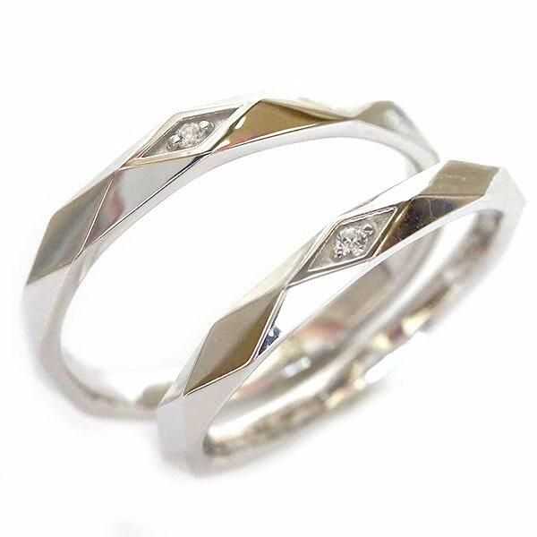 結婚指輪 マリッジリング プラチナ ペアリング ダイヤモンド ペア2本セット Pt900 ダイヤ ストレート【送料無料】