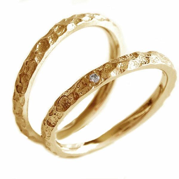 2人の絆を深めるペアリング ピンクゴールドk10 正規店 結婚指輪 マリッジリング 配送員設置送料無料 ペアリング ダイヤモンド K10pg 送料無料 ペア2本セット