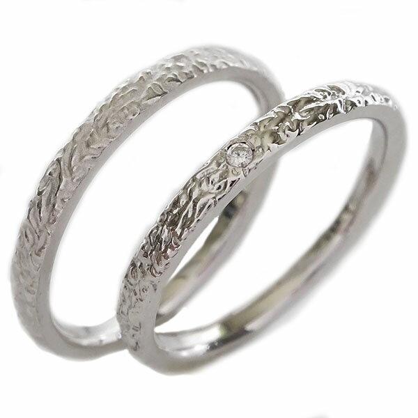 2人の絆を深めるペアリング ホワイトゴールドk10 人気急上昇 結婚指輪 マリッジリング 在庫あり ペアリング 送料無料 ダイヤモンド ペア2本セット K10wg