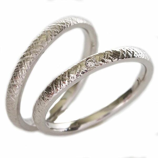2人の絆を深めるペアリング ホワイトゴールドk18 結婚指輪 マリッジリング  ペアリング ダイヤモンド ホワイトゴールドk18 ペア2本セット 結婚指輪 マリッジリング K18wg【送料無料】