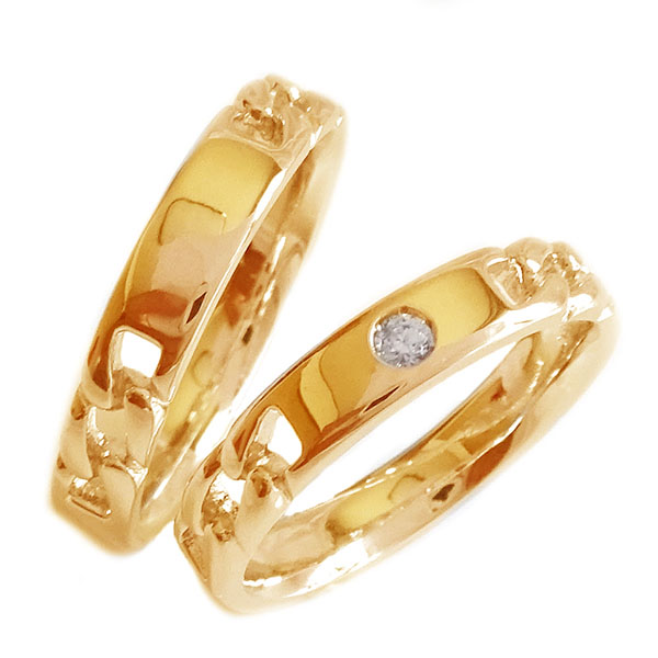 K18 ピンクゴールド ペア 保障 結婚指輪 マリッジリング ブライダル ダイヤモンド ペアリング 送料無料 ダイヤ K18pg ペア2本セット 出荷