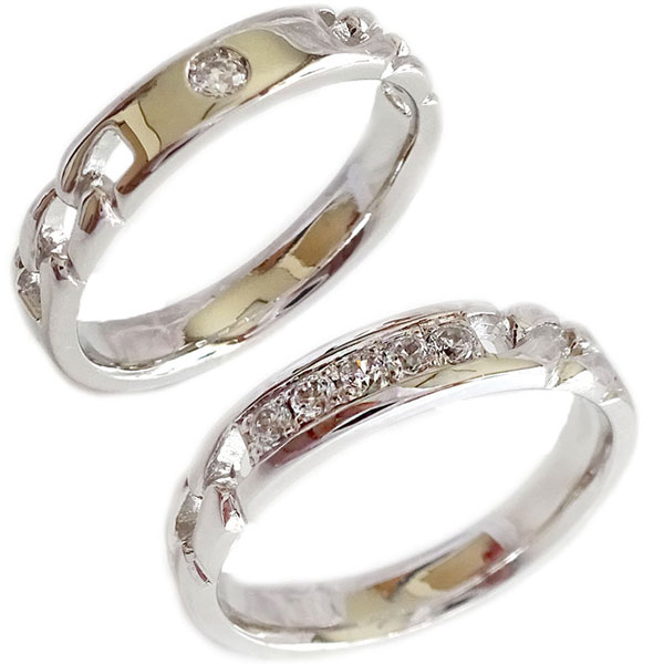 新到着 結婚指輪 プラチナ マリッジリング ペアリング ダイヤモンド ペア2本セット Pt900 ダイヤ【送料無料】, 川内村 c306d19c