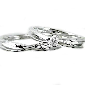 プラチナ 結婚指輪 ペアリング マリッジリング ダイヤモンド Pt900 指輪 ダイヤ 0.10ct