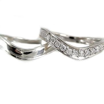 結婚指輪 マリッジリング 高品質 K18wg 指輪 ダイヤ カップル 送料無料 ◆セール特価品◆ 0.15ct 結婚ブライダル特集