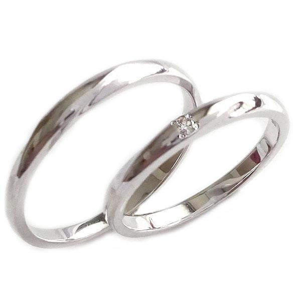 結婚指輪 マリッジリング ペアリング プラチナ900 ダイヤモンド ペア2本セット Pt900 指輪 ダイヤ 0.02ct【送料無料】