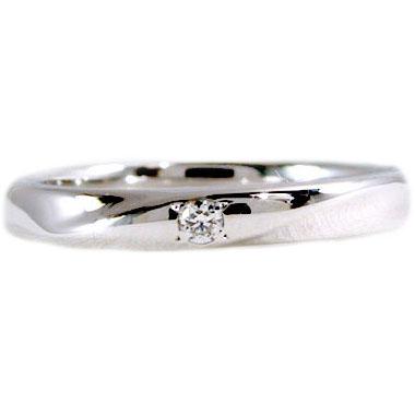 指輪 プラチナ リング ダイヤモンド ピンキーリング PT900 ダイヤ 0.02ct【送料無料】