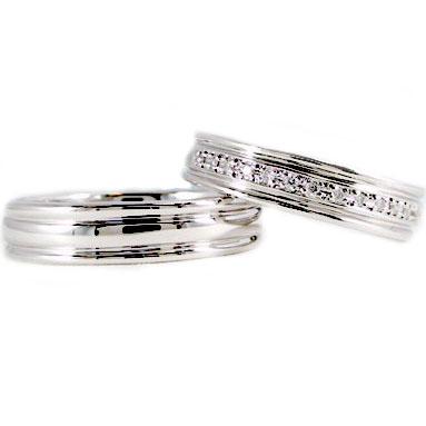 プラチナ ペアリング 結婚指輪 マリッジリング ダイヤモンド 一文字 ペア 2本セット Pt900 指輪 ダイヤ 0.10ct
