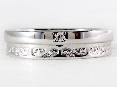 指輪:ホワイトゴールドk18/ダイヤモンドリング/ピンキーリングとしてもおすすめ/ダイヤリング:ホワイトゴールドk18指輪ダイヤ0.01ct【送料無料】
