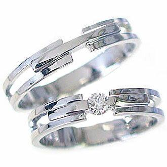 結婚指輪 ペアリング マリッジリング ホワイトゴールドk18 ダイヤモンド 指輪 ペア2本セット K18wg 指輪 ダイヤ 0.10ct【送料無料】