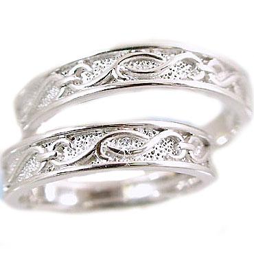結婚指輪 ホワイトゴールド ペアリング マリッジリング ペア 2本セット ダイヤ 0.01ct K18wg 指輪