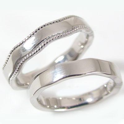 シルバー ペアリング 結婚指輪 マリッジリング ペア 2本セット SV925 指輪