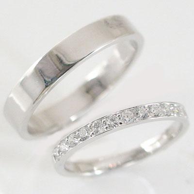 結婚指輪 ペアリング ホワイトゴールドk10 マリッジリング ダイヤモンド ペア2本セット K10wg 指輪 ダイヤ 0.23ct