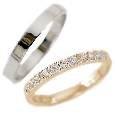 都内で 結婚指輪 ペアリング ピンクゴールド ホワイトゴールドk10 マリッジリング ダイヤモンド ペア2本セット K10pg K10wg 指輪 ダイヤ 0.23ct【送料無料】, きうち屋ウェブショップ 9d71ffe7