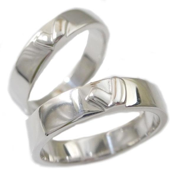シルバー ペアリング 結婚指輪 マリッジリング ペア 2本セット SV925 指輪 キスマーク【送料無料】