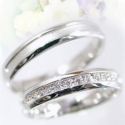 Pairing Wedding Bands Platinum 900 Rings Diamond Pair Two Sets Pt900 0 10 Ct