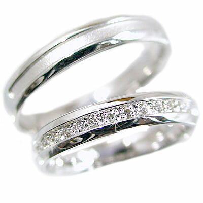 結婚指輪 ペアリング プラチナ900 マリッジリング ダイヤモンド ペア2本セット Pt900 指輪 ダイヤ 0.10ct【送料無料】
