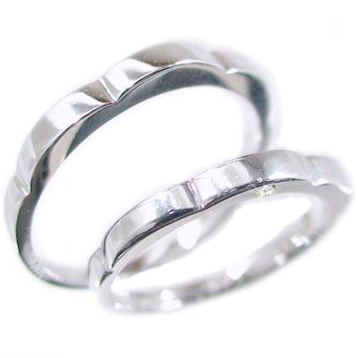 結婚指輪 ペアリング プラチナ マリッジリング ダイヤ ペア2本セット Pt900 指輪