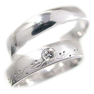 ペアリング 結婚指輪 プラチナ900 マリッジリング ペア 2本セット ダイヤモンド リング Pt900 指輪 ダイヤ 0.08ct