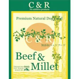 【正規品】 C&R プレミアム ビーフ&ミレット(CR-BM) (成犬用) 22.7kg