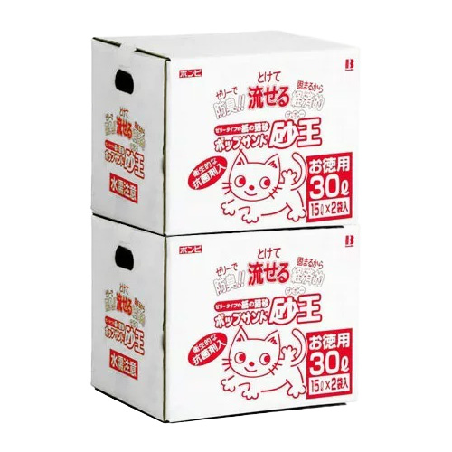 お徳用 ポップサンド 砂王 60L分(30L×2箱)