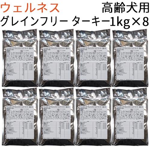【リパック品】 ウェルネス コア グレインフリー シニア ターキー 高齢犬用 8kg(1kg×8袋)