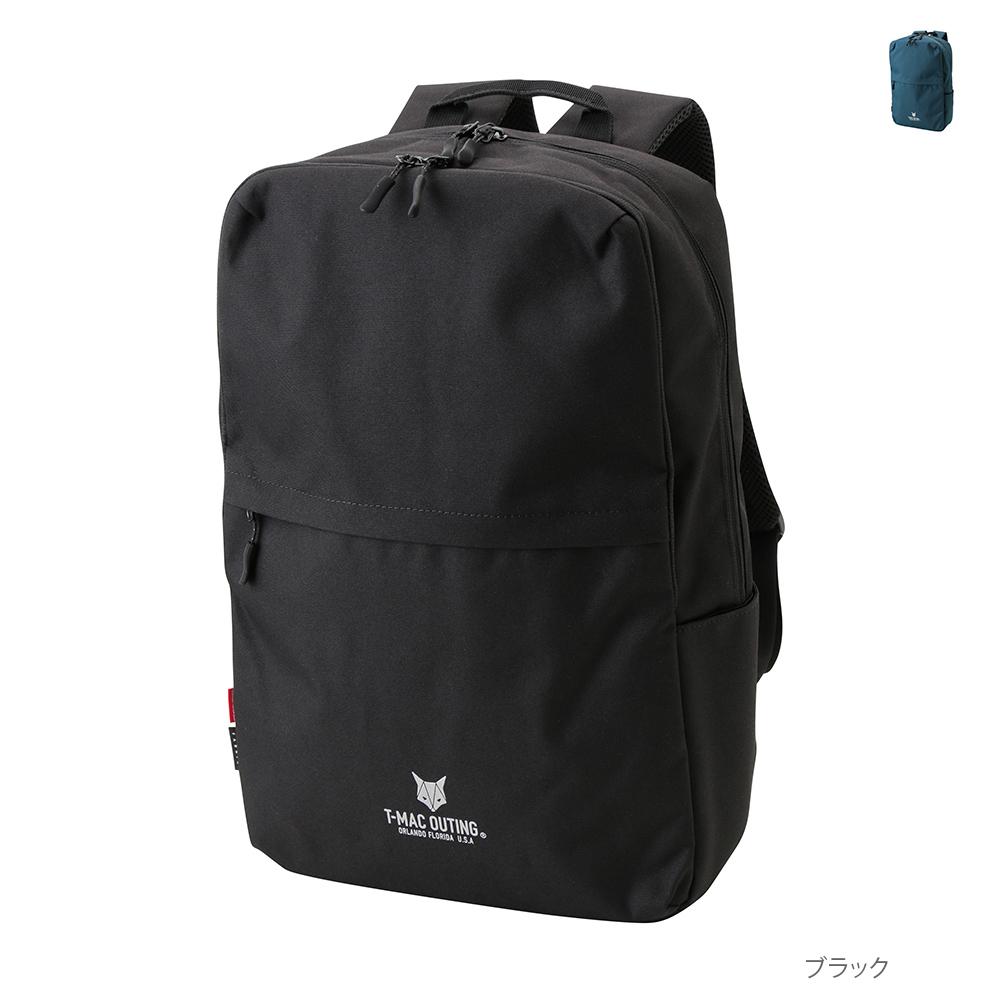 [3点以上29%割引クーポン500枚]リュック リュックサック デイパック バックパック バッグ 鞄 かばん メンズ ブランドロゴ コーデュラ シンプル アウトドア 通学 通勤 T-MAC OUTING ティーマック アウティング スクエアーバックパック 855-2367:Mac-House店