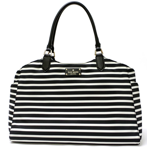 Kate Spade Grovecourt Nylon Sasha Baby Bag Diaper Pxru5362 071 Black Cream Outlet