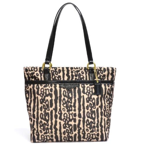 77d8a9ddc76d macalpine: Coach /COACH Leopard tote bag outlet F31901 B4/M2 (black ...