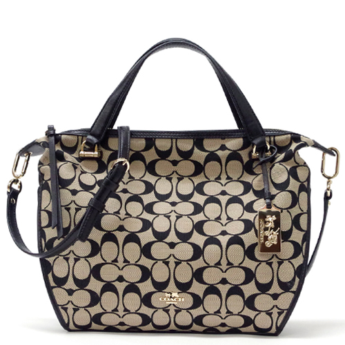 5823cc99122d Coach  COACH Madison printed signature fabric Smythe satchel 2way shoulder  bag 32686 LID80 (light Khaki   Black)