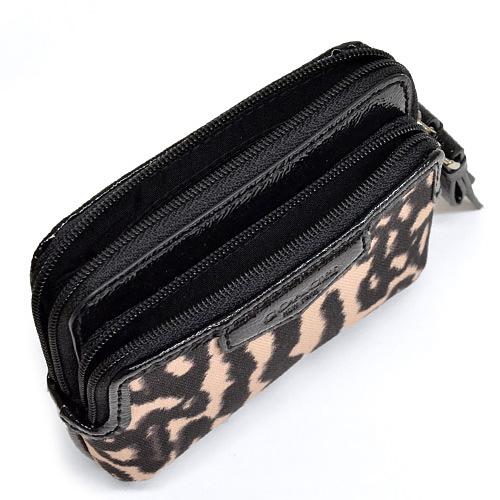 9be7a1e26c92 ... Coach /COACH Leopard double zip coin wallet change put the outlet  F62286 SV/M2 ...