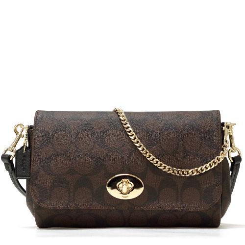 Coach /COACH signature mini Ruby cross body 2-Way shoulder bag outlet F34615 IMAA8 (Brown x black)