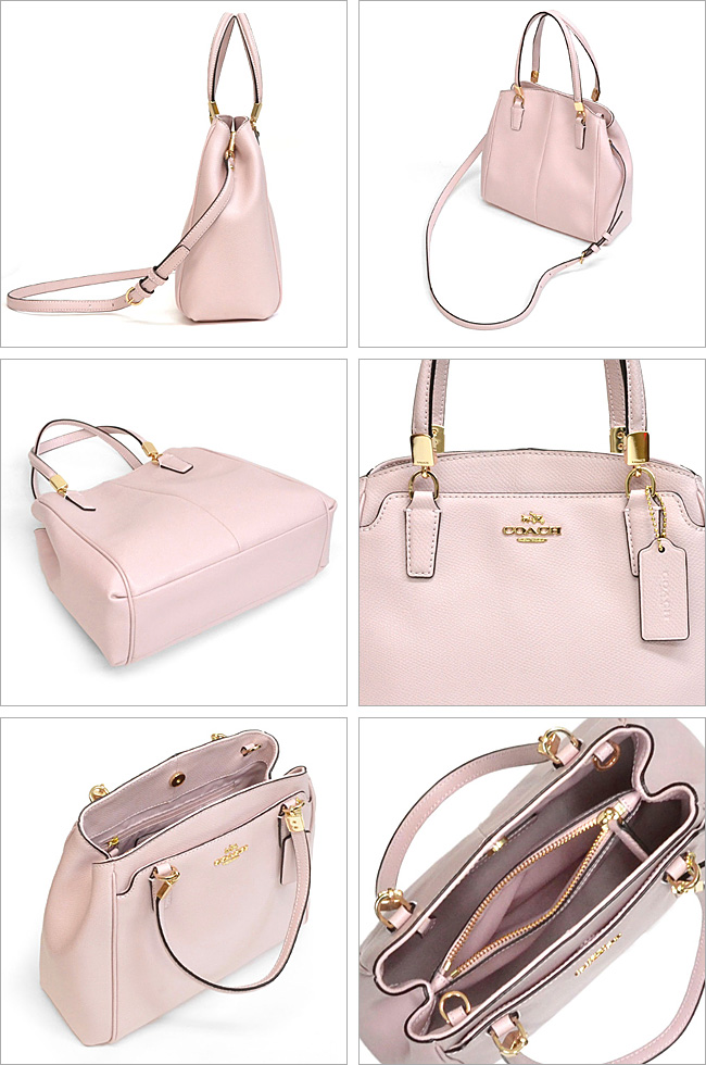 a92a01296f393 Coach  COACH cross-grain leather Minetta cross body 2-way shoulder bag  outlet F34663 IMCKP (neutral pink)