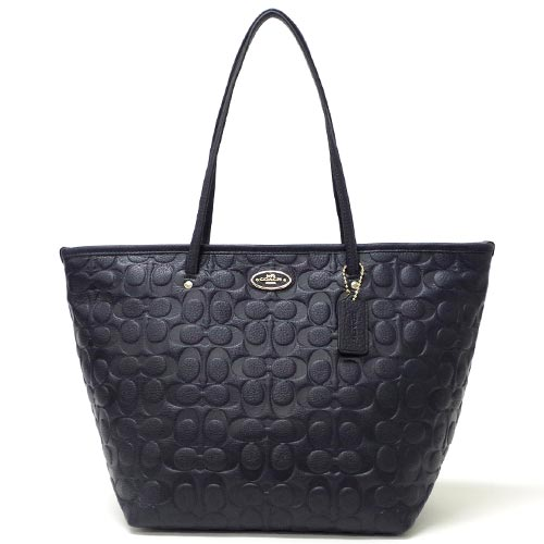 3209595fb2 ... italy coach coach embossed signature pebbled leather taxis zip top tote  bag outlet f34712 immid midnight