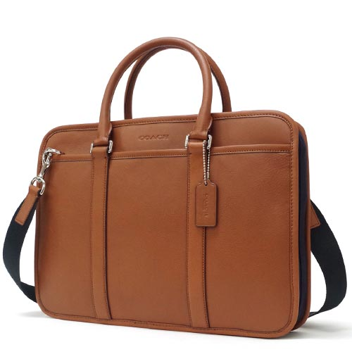 coach briefcase outlet z44r  Coach /COACH groundglass commuter leather Briefcase outlet F71564 SVAHE  saddle / Navy