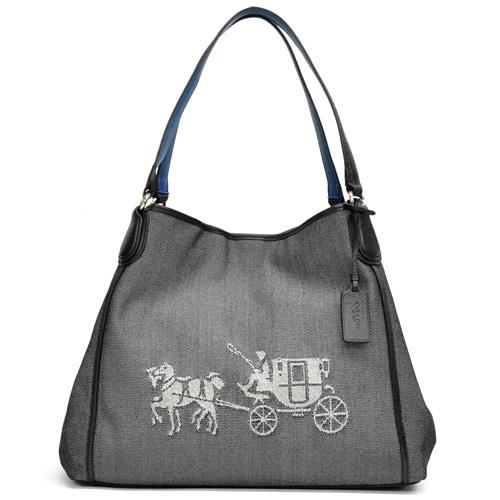 教练/COACH hosuandokyarijjiidishorudabaggu 35344 SVA16(黑色×粉笔)