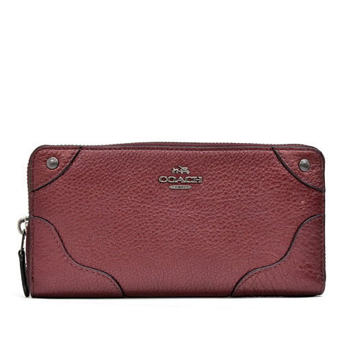 2f36b71024 Coach /COACH leather Mickey accordion zip around wallet long wallet outlet  F52645 QBE42 (metallic ...