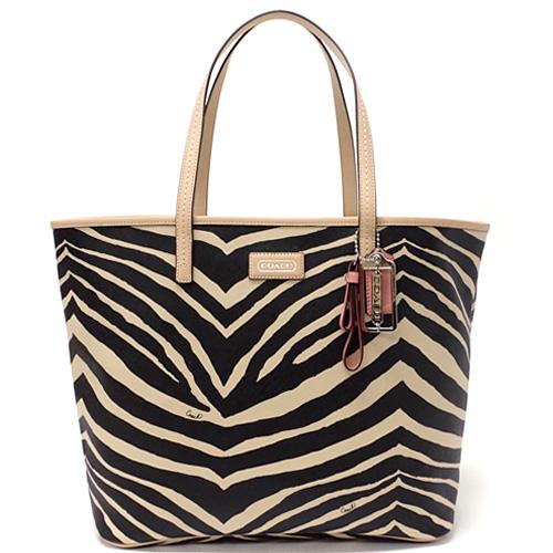 Coach Parka Metro Zebra Print Tote Bag