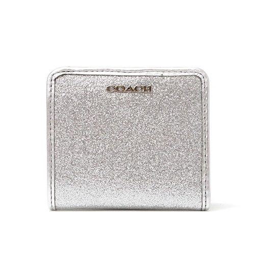 Coach /COACH legacy glitter スモールウォレット two fold wallet 50199 SV/SV (Silver)