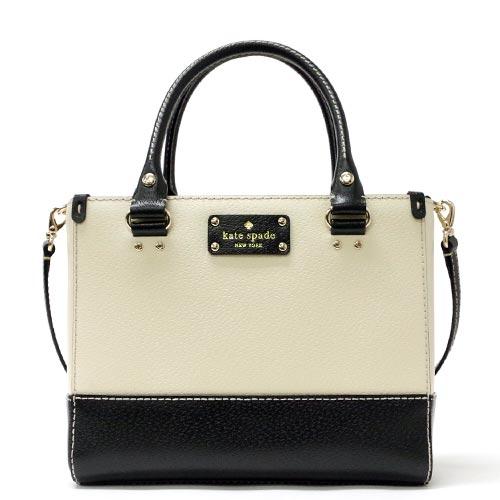 Kate Spade Berkeley Laney Small Quinn Shoulder Bag Wkru2817 137 White X Black Outlet