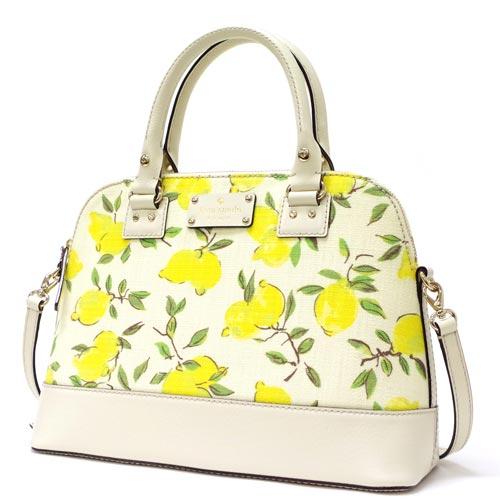 凱特黑桃/kate spade wellesley lemon fabric small rachelle挎包WKRU3080-763(多色)Outlet
