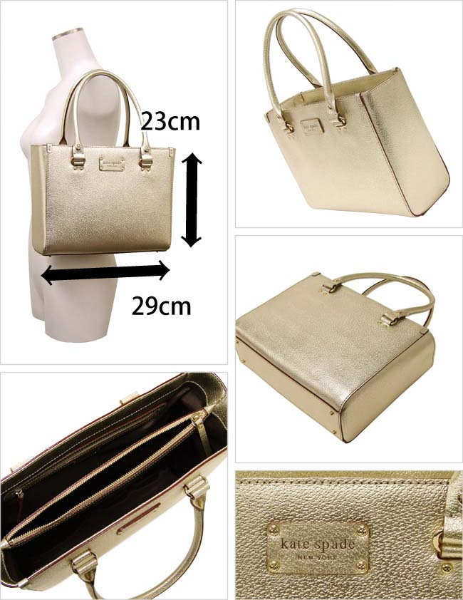 Kate Spade Metallic Wellesley Quinn Handbag Wkru0542 711 Gold Outlet