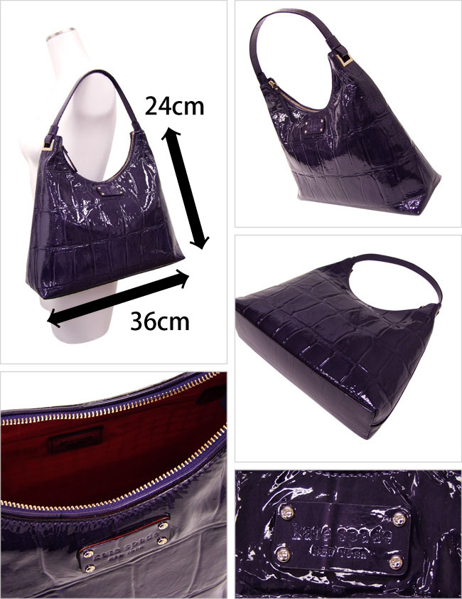 Kate Spade S Por Both High Levels Of Design And Ease Use Strong Rain Dirt パテントショルダー Bag Is A Deep Purple Color Style