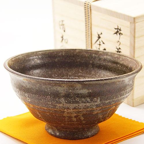 高麗茶碗第二期の柿の蔕を写した土物の通年物の抹茶椀です 抹茶椀 柿の蔕写 ふるさと割 通年物 ご注文で当日配送 茶道具 原清和作