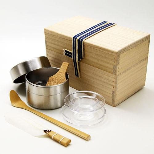 茶入れや棗などの薄茶器に抹茶を収めるために使う道具一式です ブランド買うならブランドオフ 茶掃き箱4点セット メーカー在庫限り品 茶道具 水屋用