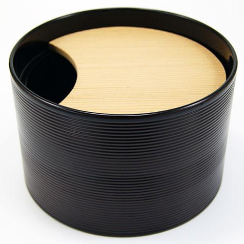 濃茶点前で使用する堅地本漆塗の寸胴の栃溜の茶巾落しです 人気急上昇 茶巾落し 誕生日プレゼント 寸胴 堅地本漆塗 茶道具
