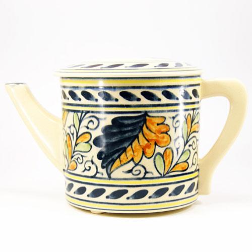 オランダより伝来したとされる色彩豊かな葉たばこの文様の水次です 色絵水次 ラッピング無料 オランダ 茶道具 信託