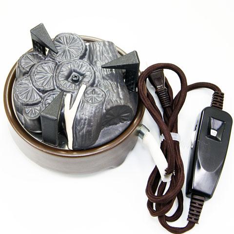 風炉用電気炭ですので お稽古でのお点前にお使いいただけます 風炉用電気炭 表流 YU-002 限定特価 セラミックス製 遠赤外線電気炭 茶道具 商品追加値下げ在庫復活