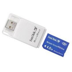 [100円便OK]【新品】【MEDIA】メモリースティック SanDisk メモリースティック PRO Duoマイクロメイト 4.0GB SDMSPD-4096-J85[在庫品]