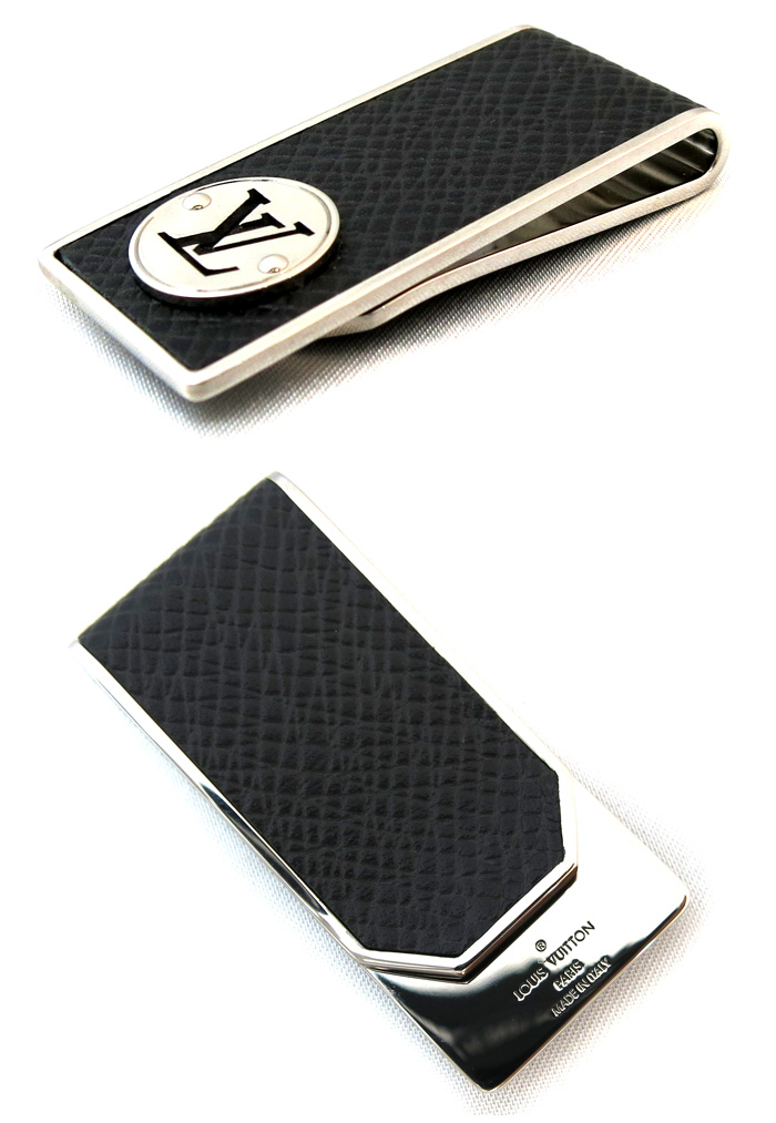 f7e5554e13 LOUIS VUITTON Louis Vuitton Building clip neo-LV club money clip LV circle  wallet silver black M00020/26431