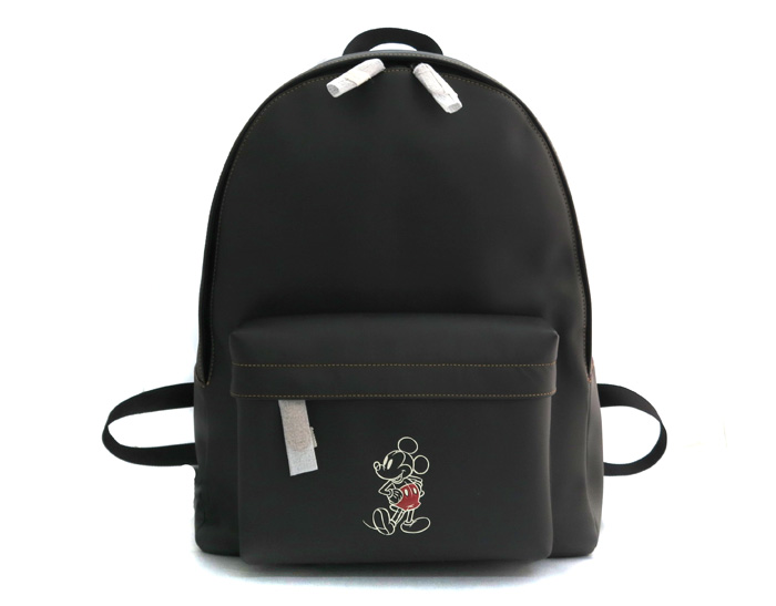 d695d5ddd72f COACH coach X Disney rucksack Charles backpack Mickey outlet cowhide  leather black black F59018 26568